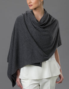 Grey Cashmere Tulip Travel Wrap
