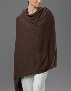 Brown Cashmere Tulip Travel Wrap