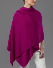 Load image into Gallery viewer, Purple Cashmere Tulip Travel Wrap