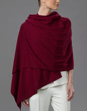 Load image into Gallery viewer, Red Cashmere Tulip Travel Wrap