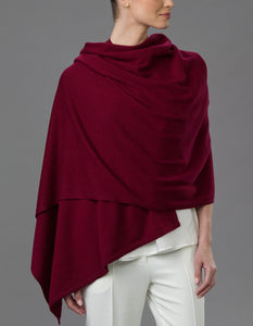 Red Cashmere Tulip Travel Wrap