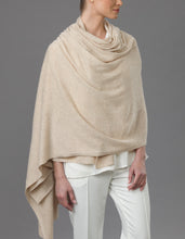 Load image into Gallery viewer, Beige Cashmere Tulip Travel Wrap