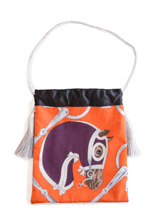 Hermes Horse Bag- Tatersale Pareo (Purple)