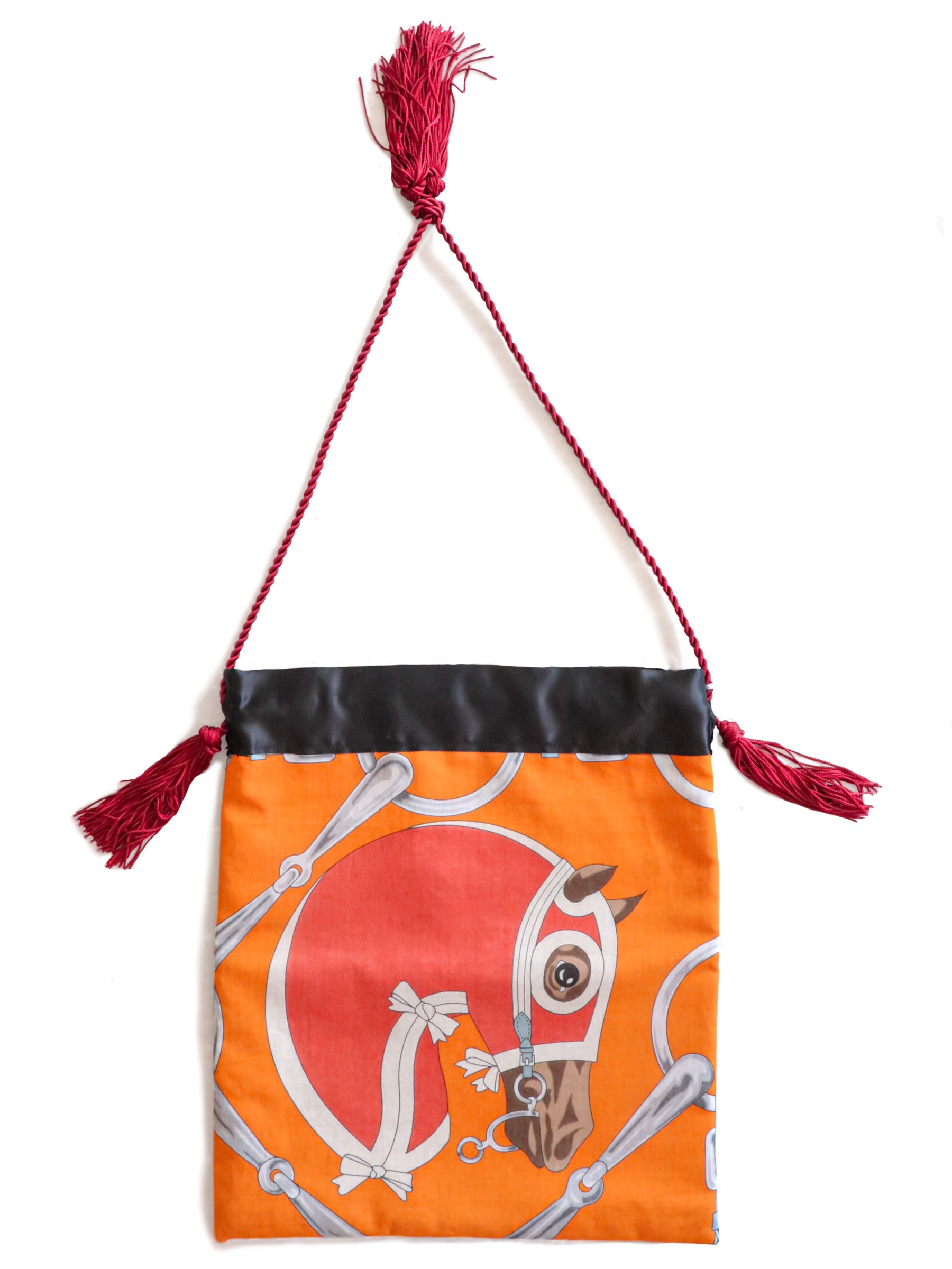 Hermes Horse Bag- Tatersale Pareo (Red)
