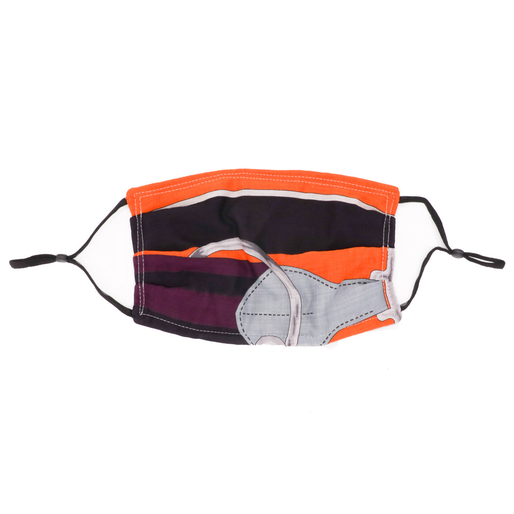 Cotton Fashion Face Mask-Hermes Tatersale Pareo (Purple)