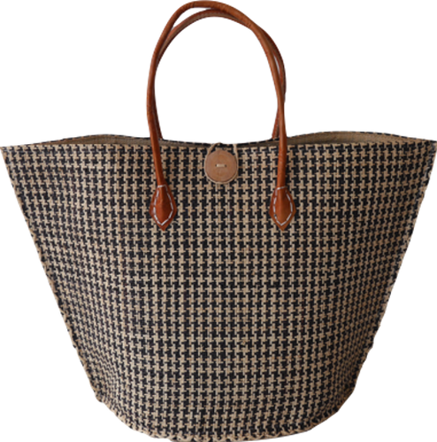 Ultimate Stripe Tote w Button