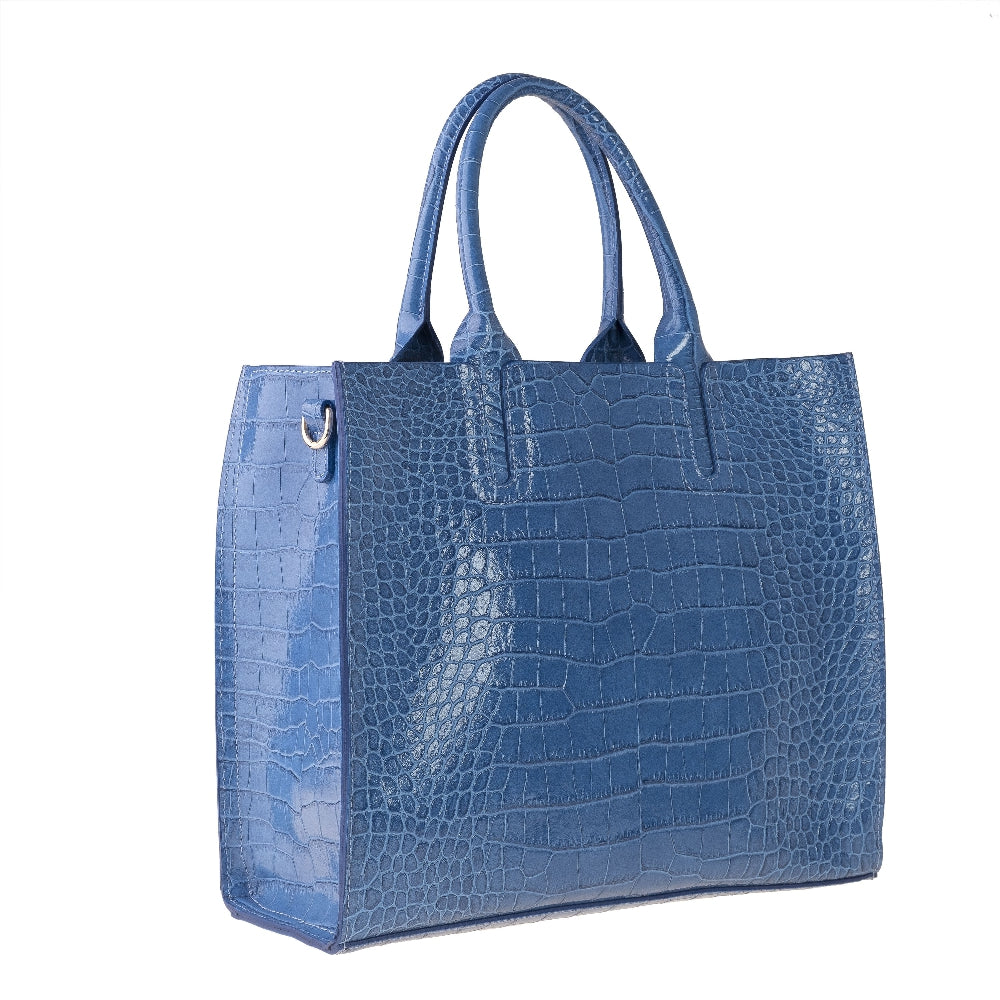 Montecristo Crocodile Print Italian Leather Tote