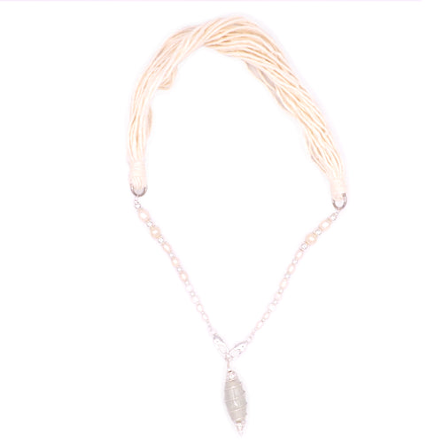 Convertible Pearls of Wisdom Mask Chain Necklace