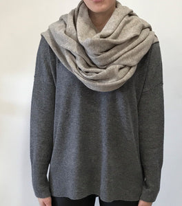 Beige Cashmere Tulip Travel Wrap