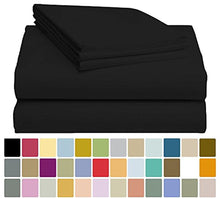 LuxClub Bamboo Sheet Set - Viscose from Bamboo - Eco Friendly, Wrinkle Free, Hypoallergentic, Antibacterial, Moisture Wicking, Fade Resistant & Softer than Cotton - Blacker Black - California King