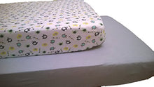 LuxClub Baby Crib Sheet 2 Count Pack - Elephant Print & Grey Solid Set