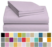 LuxClub Bamboo Sheet Set - Bamboo - Eco Friendly, Wrinkle Free, Hypoallergenic, Antibacterial, Moisture Wicking, Fade Resistant, Silky, Stronger & Softer than Cotton - Lavender California King