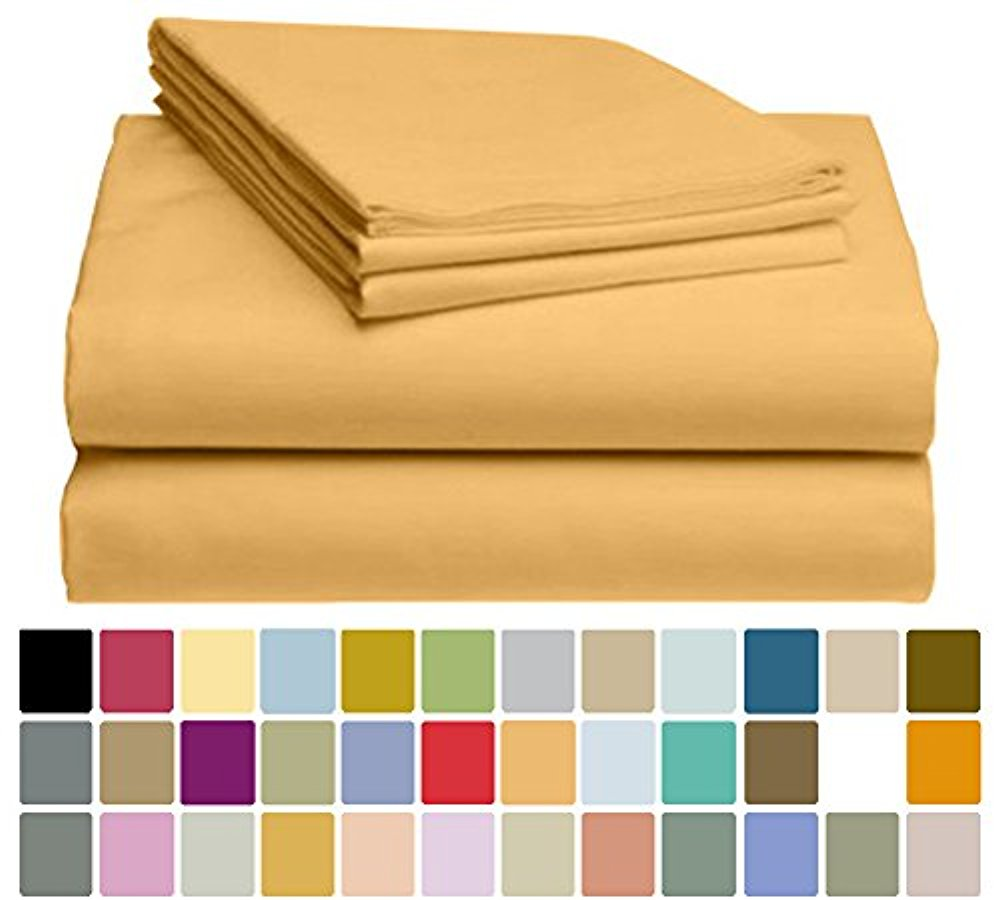 LuxClub Bamboo Sheet Set - Bamboo - Eco Friendly, Wrinkle Free, Hypoallergenic, Antibacterial, Moisture Wicking, Fade Resistant, Silky, Stronger & Softer than Cotton - Sand Stone - California King