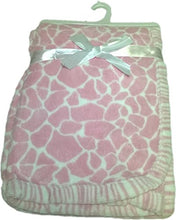 LuxClub Premium Super Plush 30 x 40 Baby Blanket with Colorful Print-Giraffe Pink