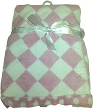 LuxClub Premium Super Plush 30 x 40 Baby Blanket with Colorful Print-Checkerboard Pink