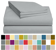 LuxClub Bamboo Sheet Set - Bamboo - Eco Friendly, Wrinkle Free, Hypoallergenic, Antibacterial, Moisture Wicking, Fade Resistant, Silky, Stronger & Softer than Cotton - Silver California King
