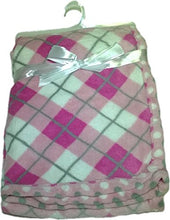 LuxClub Premium Super Plush 30 x 40 Baby Blanket with Colorful Print-Plaid Pink