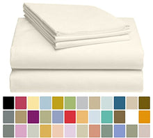 LuxClub Bamboo Sheet Set - Viscose from Bamboo - Eco Friendly, Wrinkle Free, Hypoallergenic, Antibacterial, Moisture Wicking, Fade Resistant, Silky & Softer than Cotton - Cream - California King