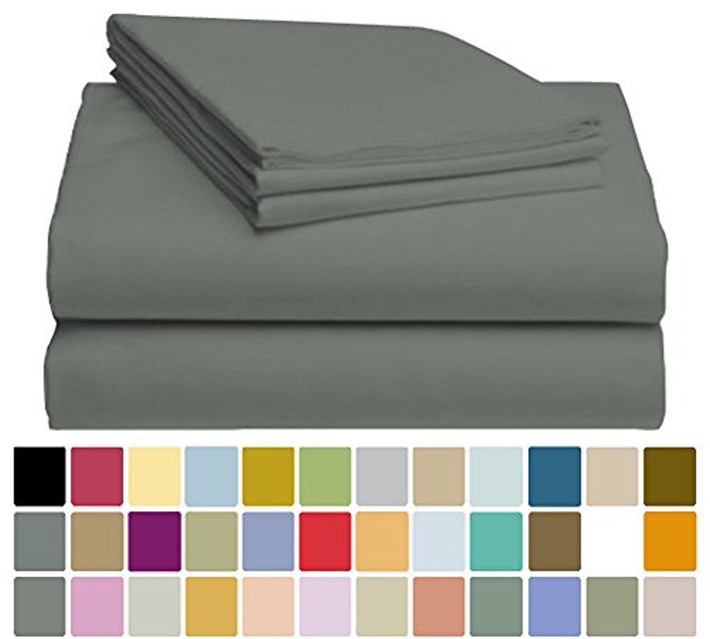 LuxClub Bamboo Sheet Set - Viscose from Bamboo - Eco Friendly, Wrinkle Free, Hypoallergenic, Antibacterial, Moisture Wicking, Fade Resistant & Softer than Cotton - Forrest Green - California King