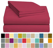 LuxClub Bamboo Sheet Set - Viscose from Bamboo - Eco Friendly, Wrinkle Free, Hypoallergentic, Antibacterial, Moisture Wicking, Fade Resistant, Silky & Softer than Cotton - Burgundy - California King