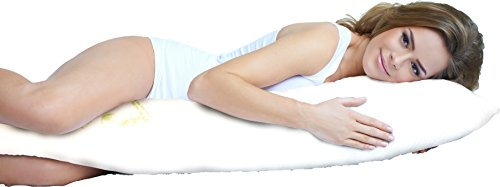Aloe Vera Bamboo Body Pillow with Memory Foam by LuxClub - Ideal for Pregnant & Back Side & Stomach Sleepers