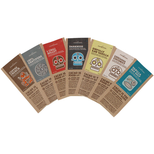 ChocoSol bean-to-bar dark chocolate selection pack.