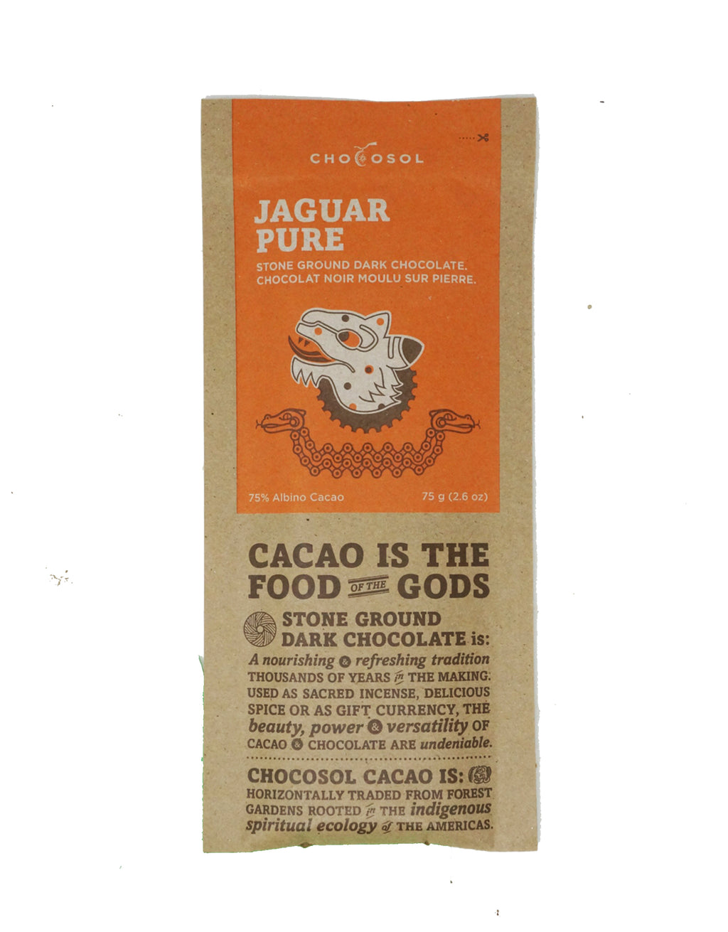 Jaguar Pure | 75% Albino Cacao Dark Chocolate