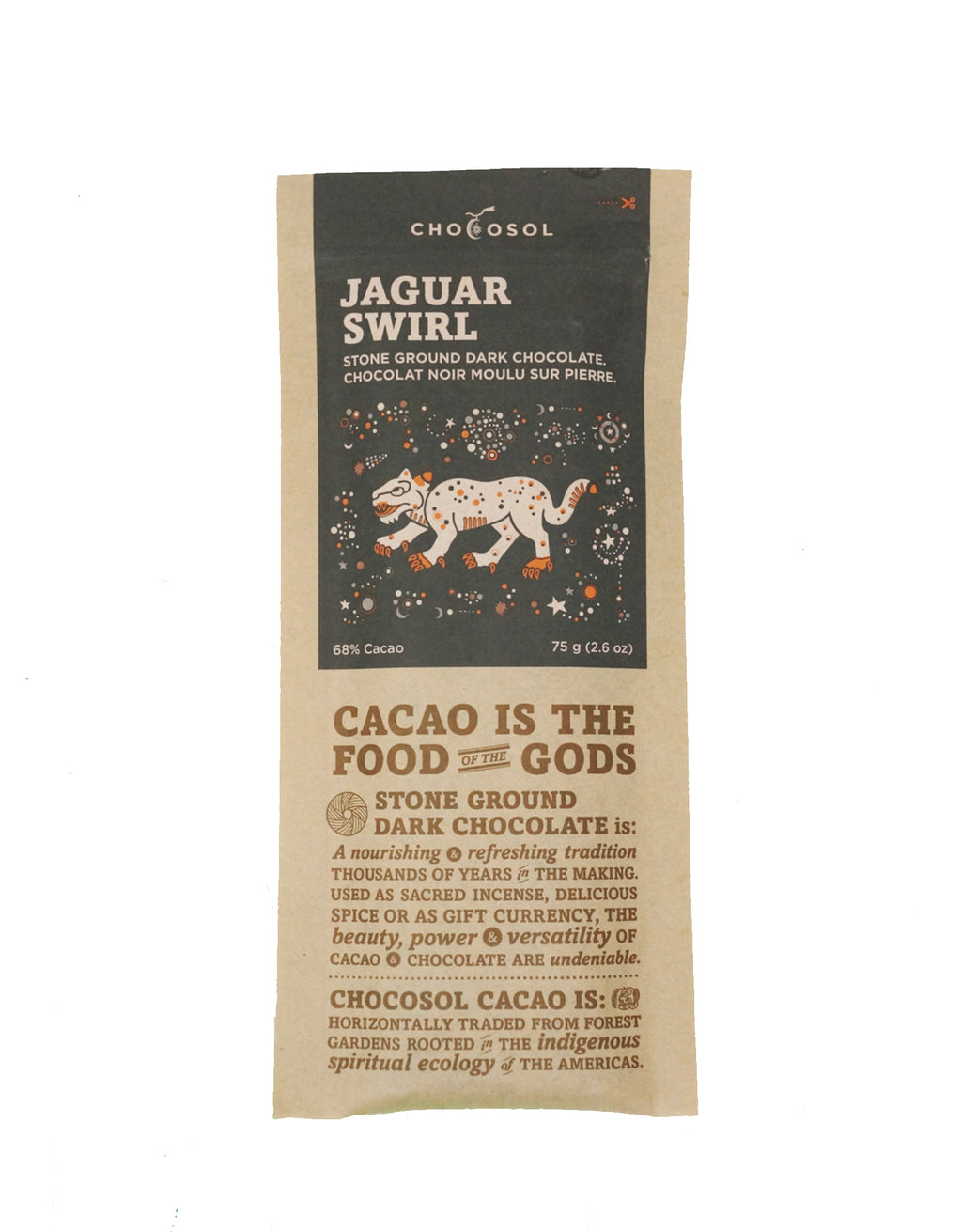 Jaguar Swirl | 70% Albino + Red Cacao Chocolate