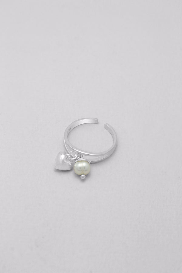 Toe Ring : T6002 Heart & Pearl
