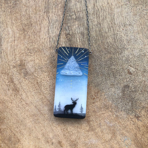 Druzy Deer Necklace