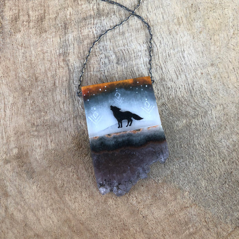 Fire Wolf Necklace