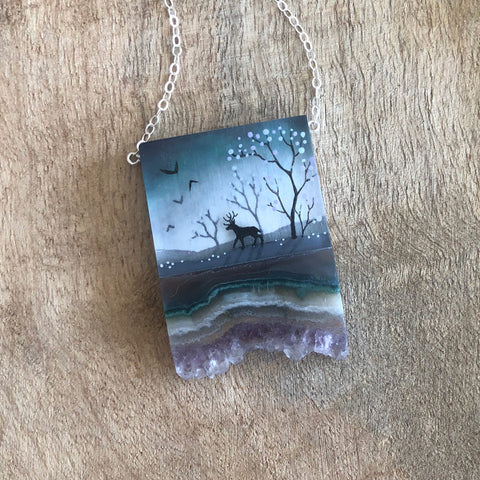 Forest Scene Necklace