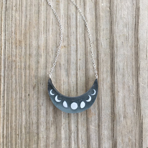Glitter Moons Necklace