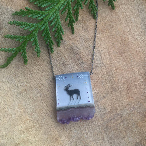Crystal Elk Necklace