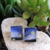 Fireflies post earrings