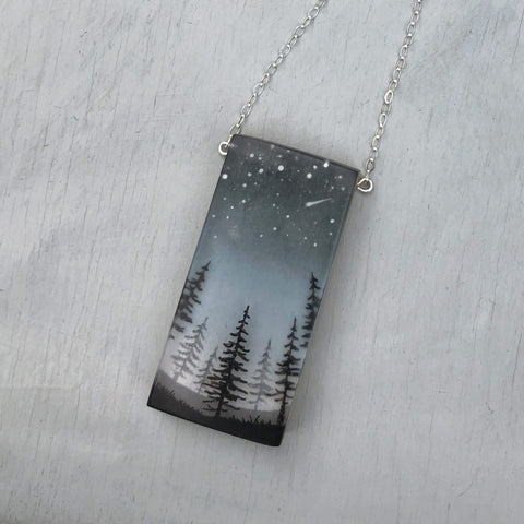 Glitter Pines Necklace