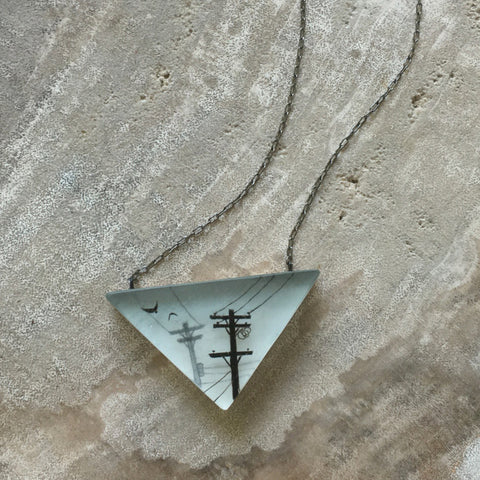 Gray lines necklace