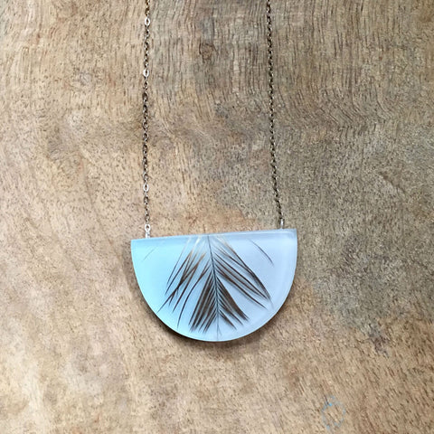 Half moon emu necklace