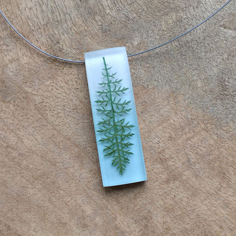 Lacy fern necklace