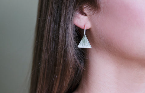 Grass Triangle Earrings