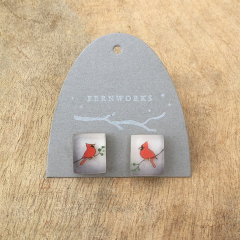 Cardinals earrings