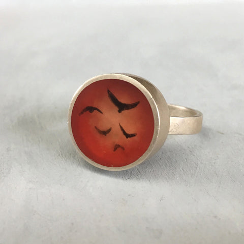 Fiery flock ring