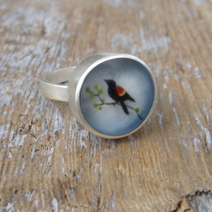 Red winged blackbird ring
