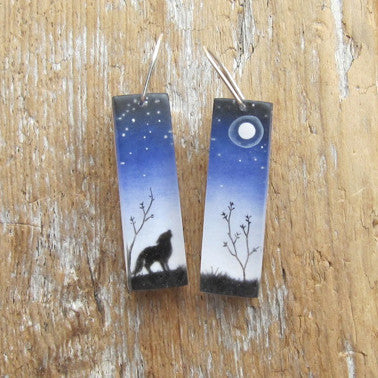 The moon earrings