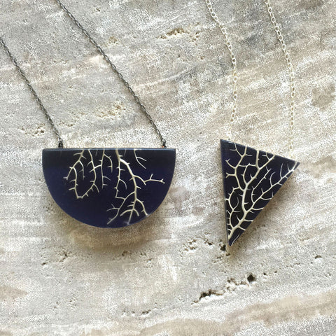 Sea fan coral necklaces