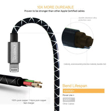5FT. Apple Certified Diamond Design Cable With Metal Connectors