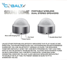 Sound Dome True Wireless Stereo Speakers