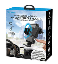 Wireless Charging Air Vent Cradle Mount with Auto Sensor Grip Qi Certified Wireless Car Charger
