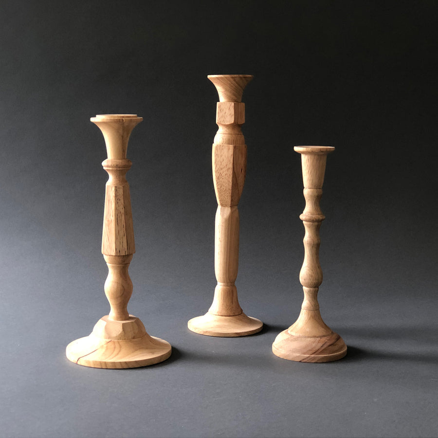 Tall Hand-Turned Candlestick