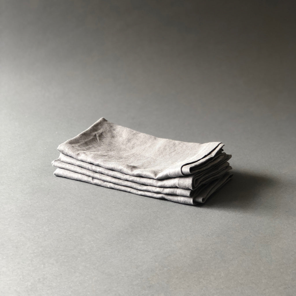 Turned Edge Linen Napkins in Sand